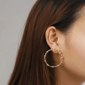 Gorgeous Rock Stars Gold Color Hoops